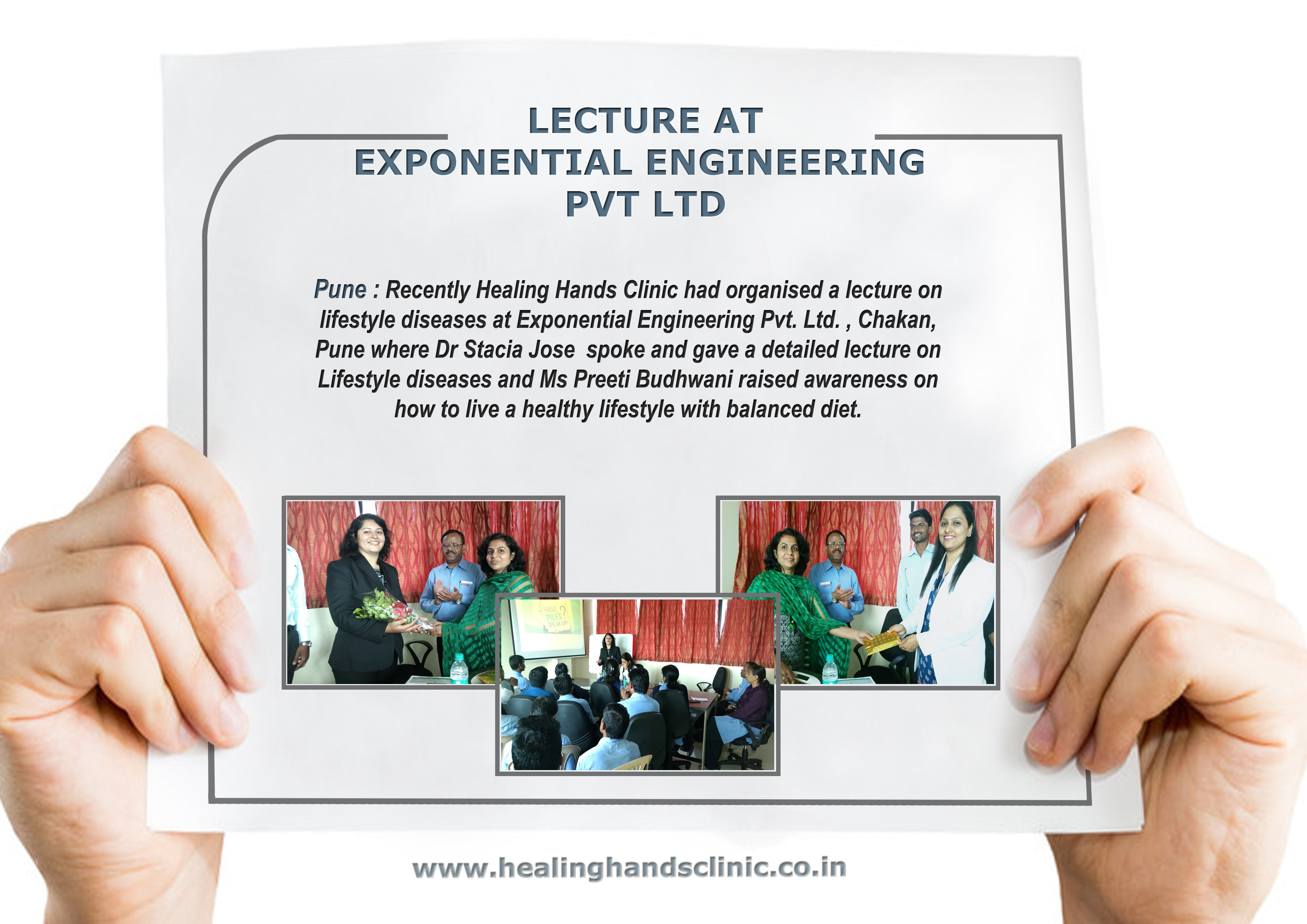 Lecture at exponential engineering pvt. Ltd.
