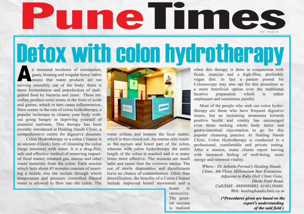 Detox with colon hydrotherapy