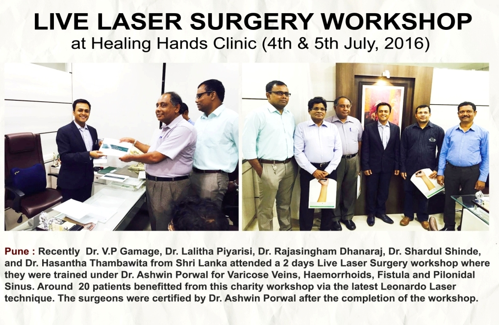 Live laser surgery workshop at healing hands clinic