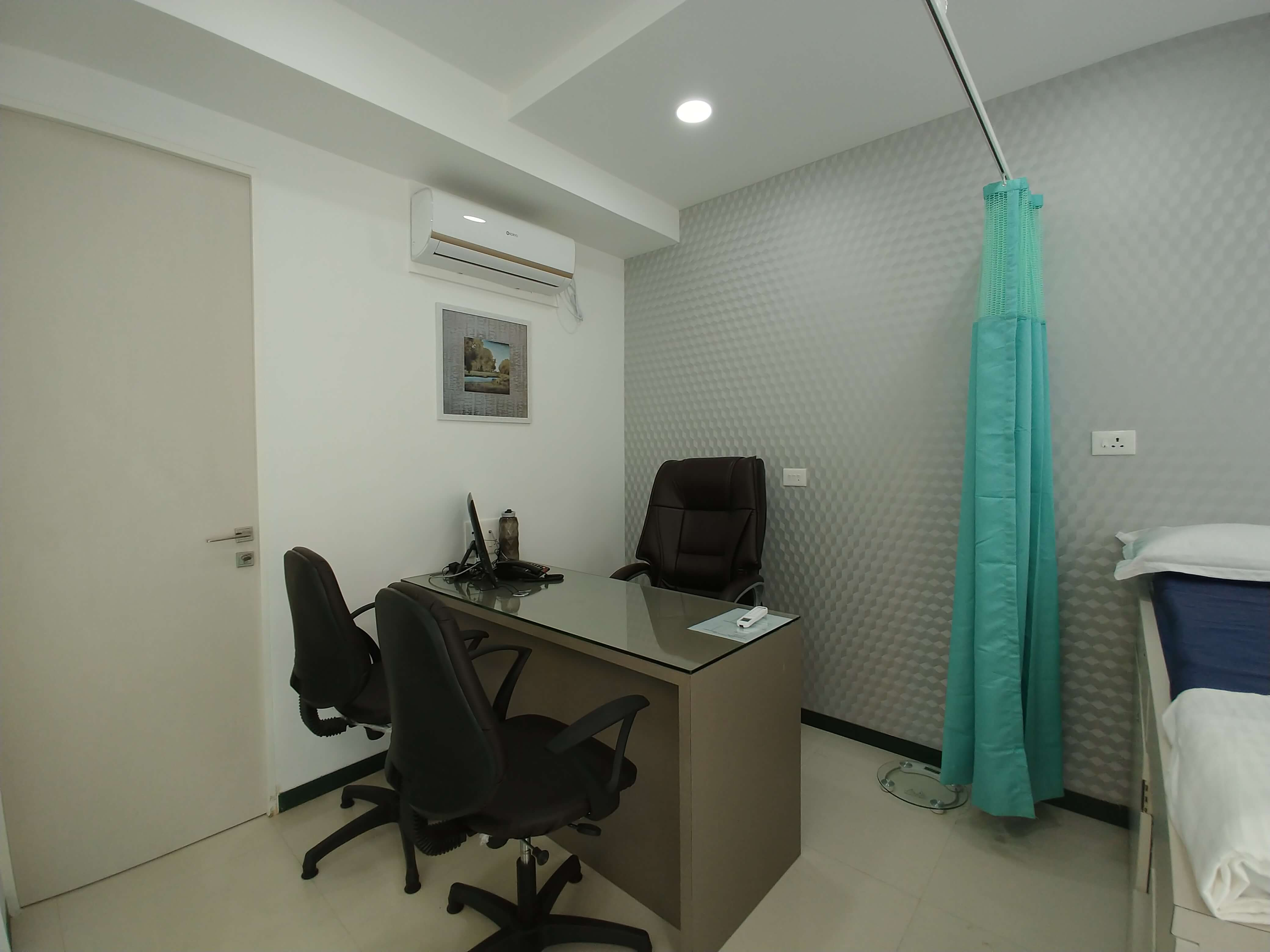 Patient checking room