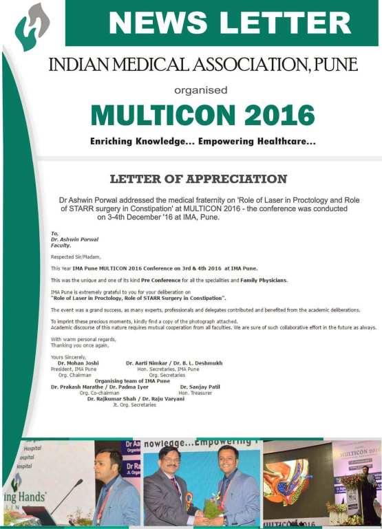 Dr. Ashwin Porwal | Multicon 2016