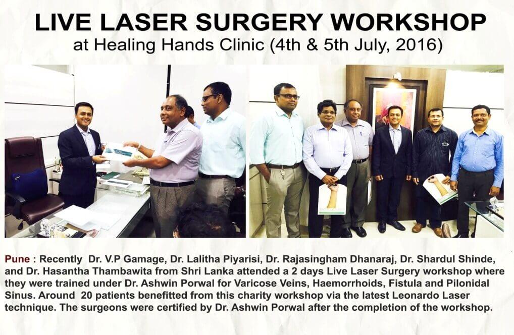 Live laser surgery workshop at healing hands clinic