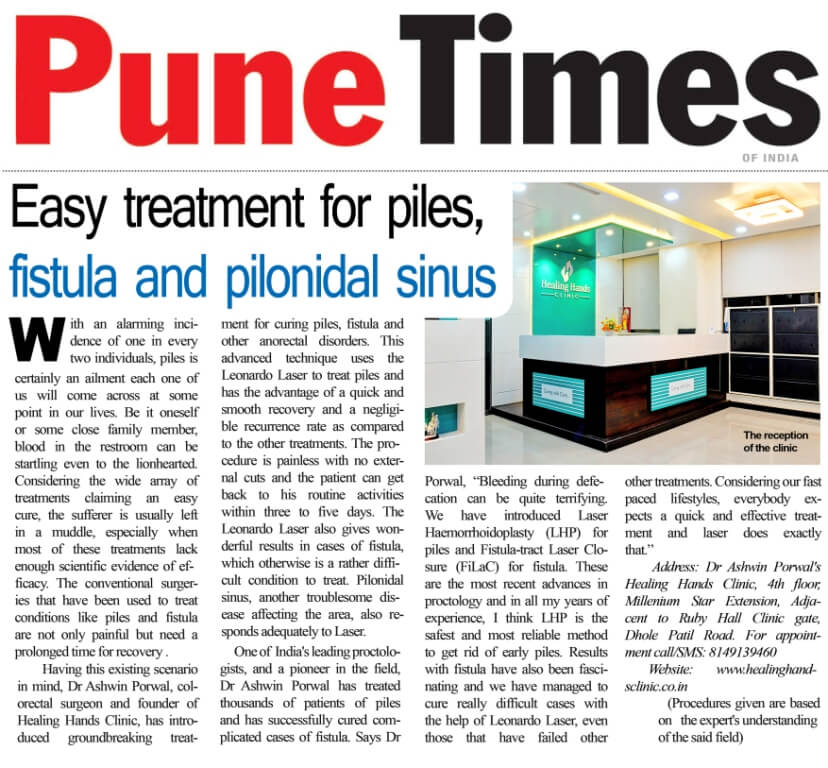 Easy treatment for piles, fistula and pilonidal sinus
