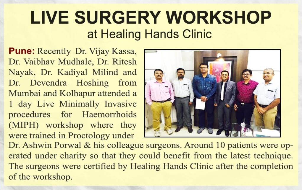 Live surgery workshop at healing hands clinic
